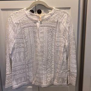 Rebecca Taylor white blouse - size 4